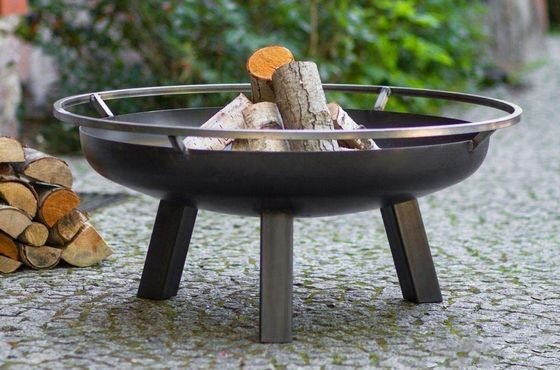 Outdoor Fire Pit Bowl On Lawn