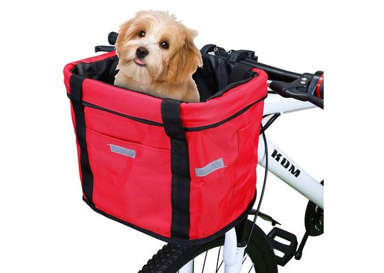 Dog Basket For Bike In Red Finish
