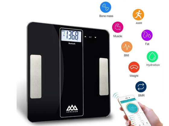 Bluetooth Smart Body Analyser Scale In Black