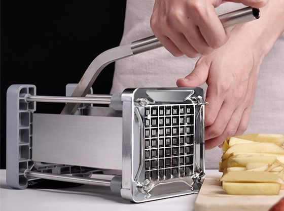 Potato Chipper Machine In Steel Style