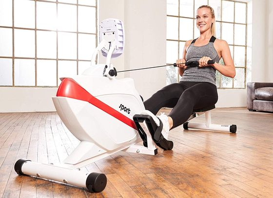 Foldaway Rowing Machine With LCD Close Up
