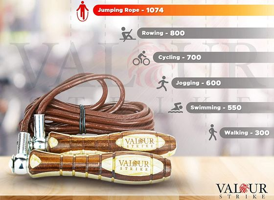 Leather Weighted Skipping Rope Wood Handles