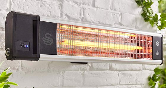 Patio Wall Heater With Black Hand Remote