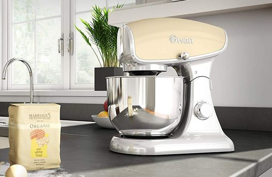 Electric Stand Mixer With Big Steel Base