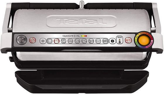 Indoor Electric Grill With Chrome Finish