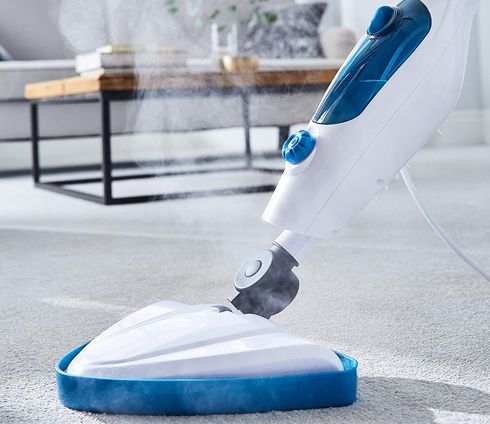 Blue Steam Mop Cleaner With Swivel Joint