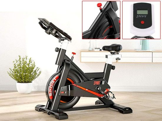 Indoor Cycling Bike With Black Saddle