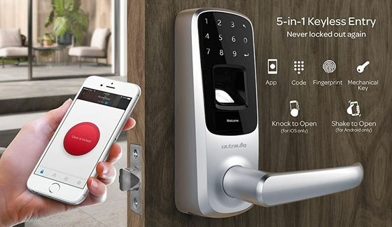 Smart Number Lock With Black Keypad