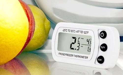Fridge Thermometer For Freezer In White