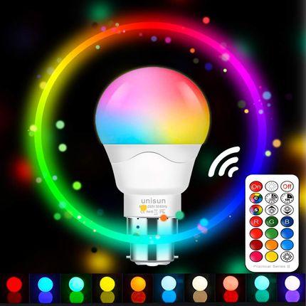 Jayool B22 Bluetooth Colour Changing Light Bulb 16 Million Colours