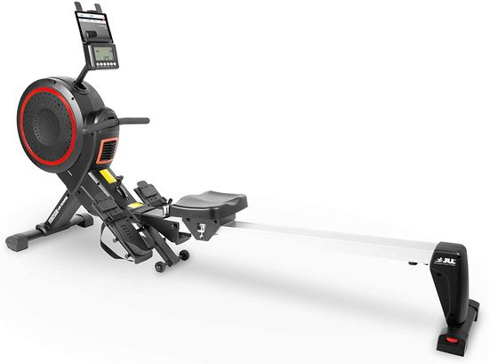 Fold Away Rowing Machine In Black And Chrome
