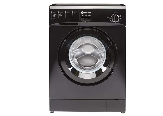 Black Washing Machine With Big Wash Dial