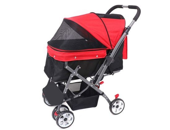 Red Dog Trolley With Black Handle