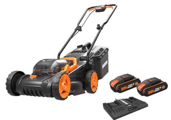 Battery Lawn Mower With 4 Big Wheels