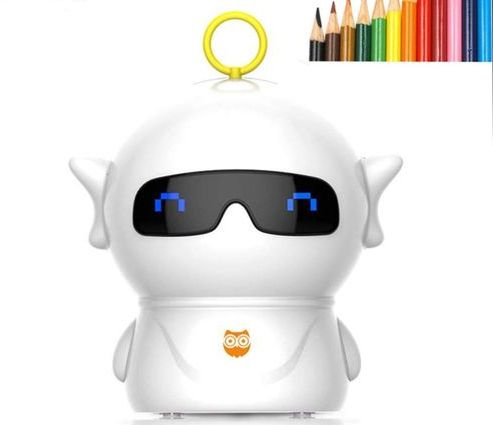 White Electric Pencil Sharpener In Robot Style