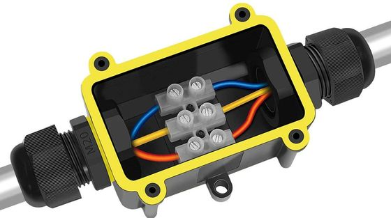 2 way BLACK junction box with terminal block BOX project box