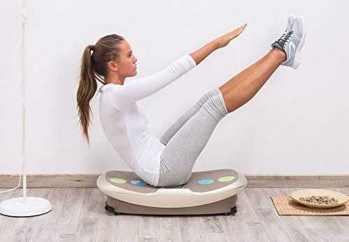 Vibration Fitness Machine In Cream Style