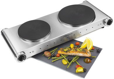Electric Stove Top 2 Burners With Side Dials