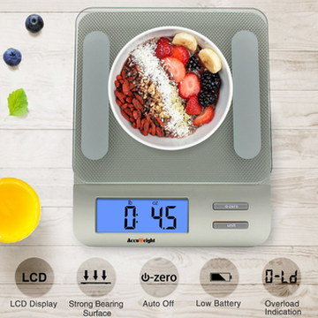 LCD Kitchen Weighing Scale With Blue Screen