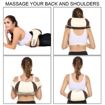 Shoulder Massage Machine In Cream And Brown