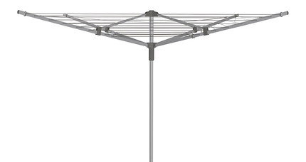 Steel 4 Arm Rotary Washing Line In Green Layer