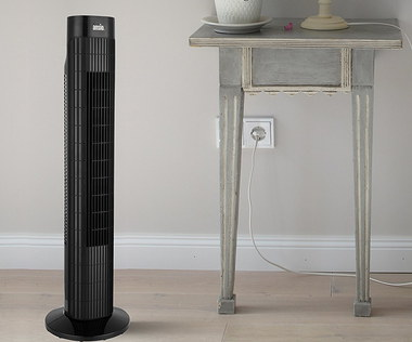 Oscillating Tower Fan In Smooth Black