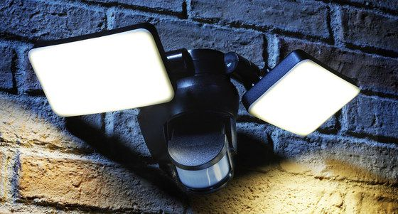Motion Sensor Outdoor Light In Black Casing
