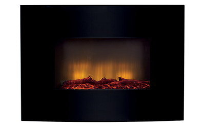 Stylish Electric Fake Log Heater With Bright Red Glow