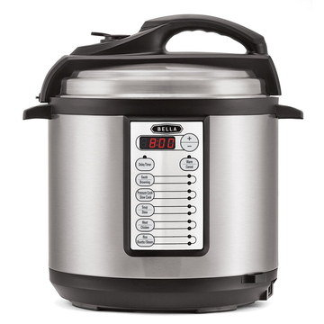 Pressurised Slow Cooker In Chrome Look