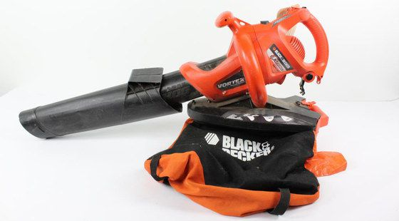 Leaf Blower Vacuum With Black And Red Collecting Bag