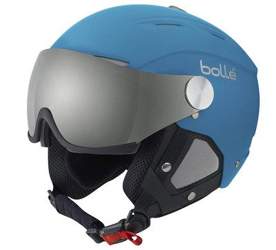Visor Ski Helmet In Blue Finish