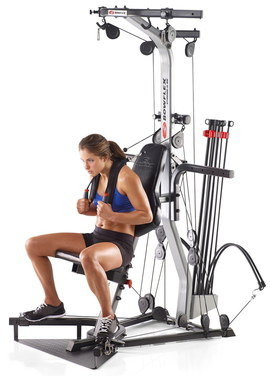 Home Multi Gym With Girl On Seat