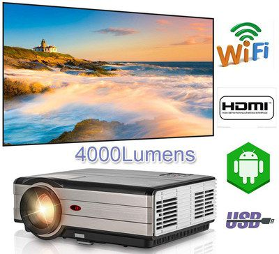 Wireless Projector In Black And Chrome