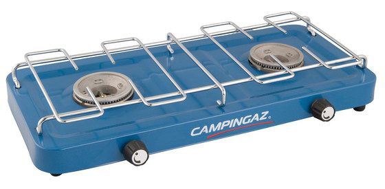 Two Ring Camping Stove In Light Blue