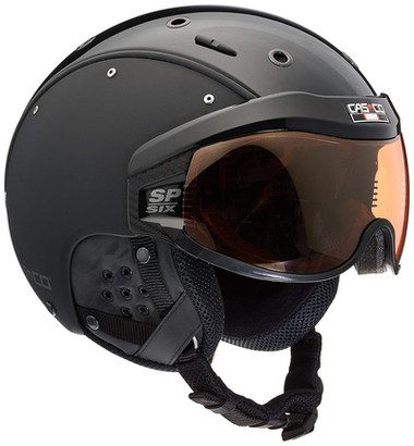 Ventilated Ski Helmet In Black With Visor