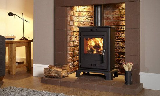 Black Stove On Red Tiled Hearth