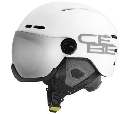 Skiing Helmet In White