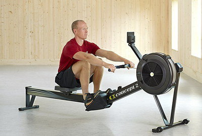 Flywheel Construct Rowing Machine In Black