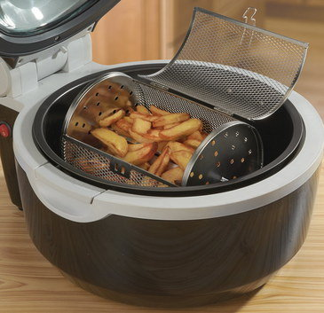 10L Big Low-Fat Chip Fryer With Turning Barrel