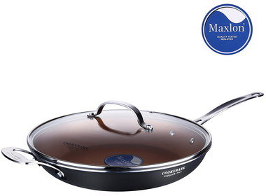 Ceramic Frying Pan With Circular See Through Lid
