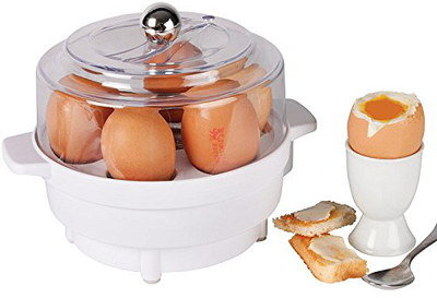 Compact Boiled Egg Maker In All White