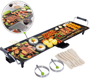 Large Teppanyaki Hot Plate BBQ Design In Black
