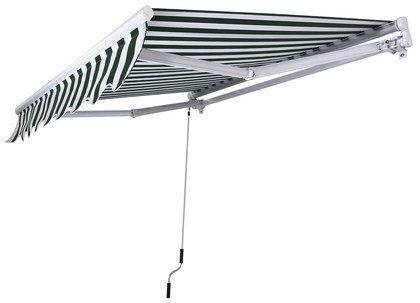 Wall Mounted Awning With Steel Wind Handle