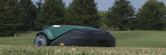 Green Black Auto Lawn Mower Cutting