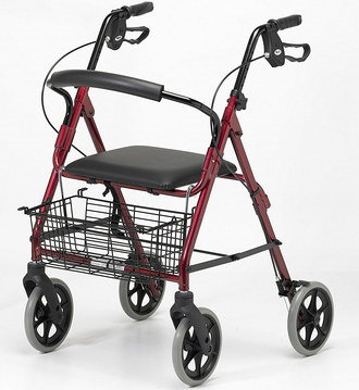Zimmer Frame With Seat With Shopper Basket