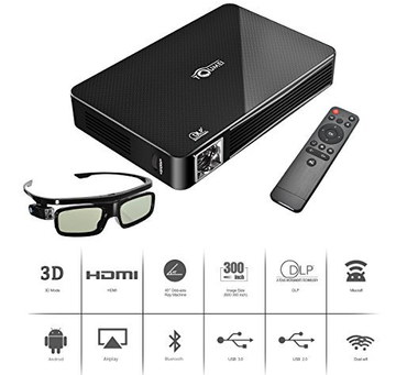 LED Movie Projector With Black 3D Glasses