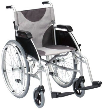 Self Propelled Wheelchair With Cushion Arm-Rests