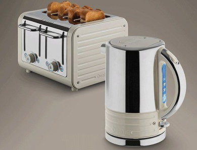 Kettle 2 Slice Toaster Set In Silver Effect