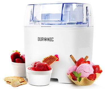 Ice Cream, Yoghurt, Sorbet Machine In White