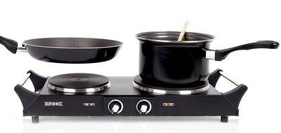Portable Electric x2 Hob With Handles